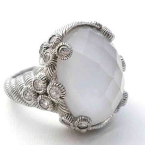 "White Agate Doublet ""Flora"" Cocktail Ring"